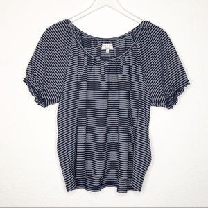 Madewell | New Blue & White Striped Top Size XL